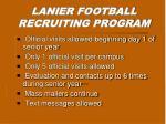 lanier football recruiting program9