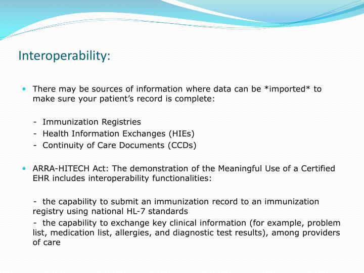 Interoperability: