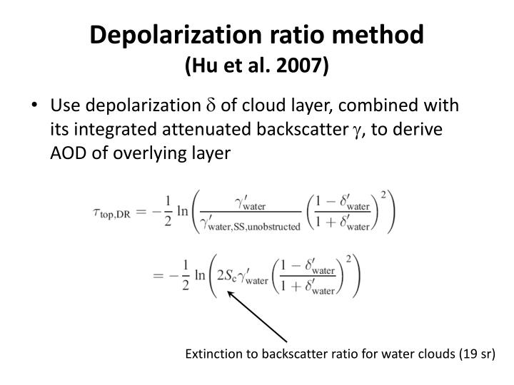 Depolarization ratio method