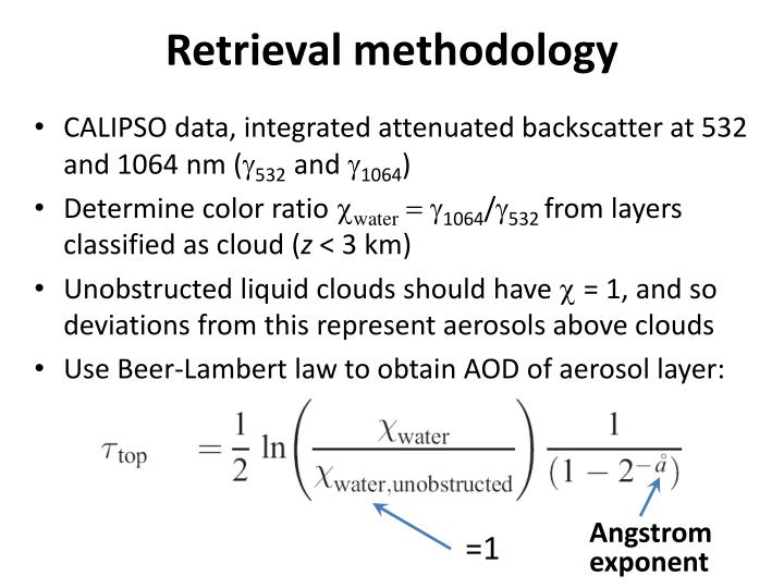 Retrieval methodology