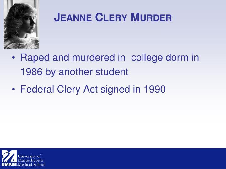 Jeanne clery murder