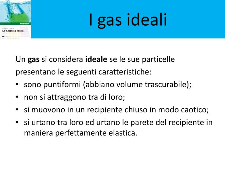 I gas ideali