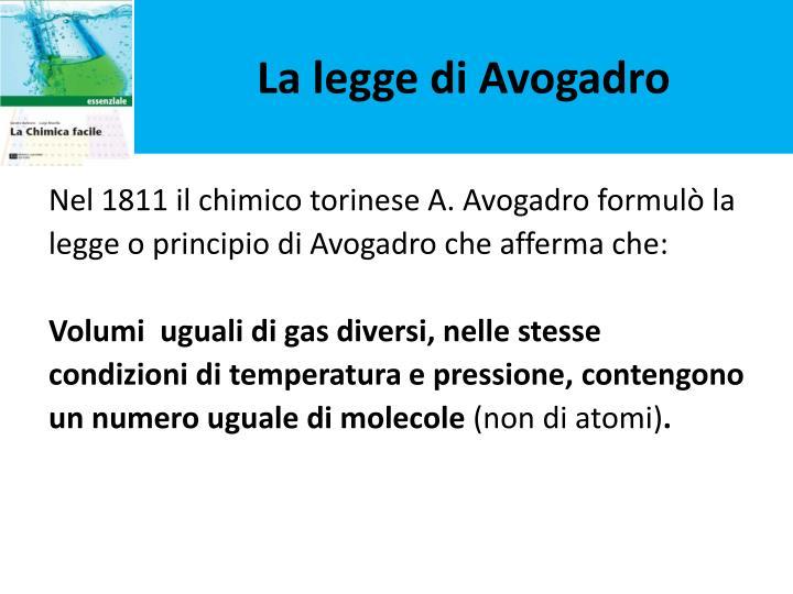 La legge di Avogadro