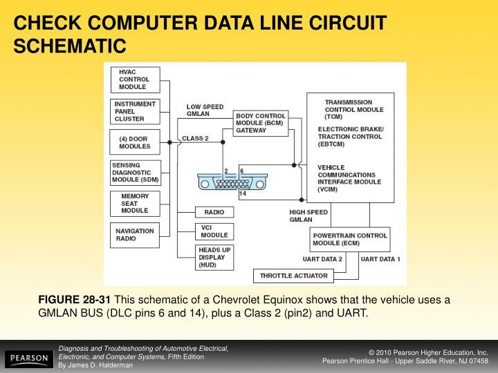 CHECK COMPUTER DATA LINE CIRCUIT SCHEMATIC
