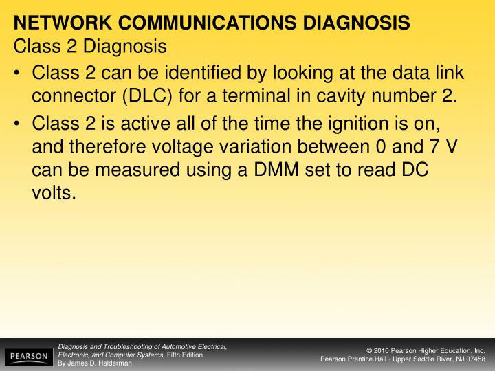 NETWORK COMMUNICATIONS DIAGNOSIS