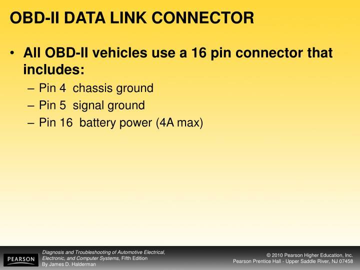 OBD-II DATA LINK CONNECTOR