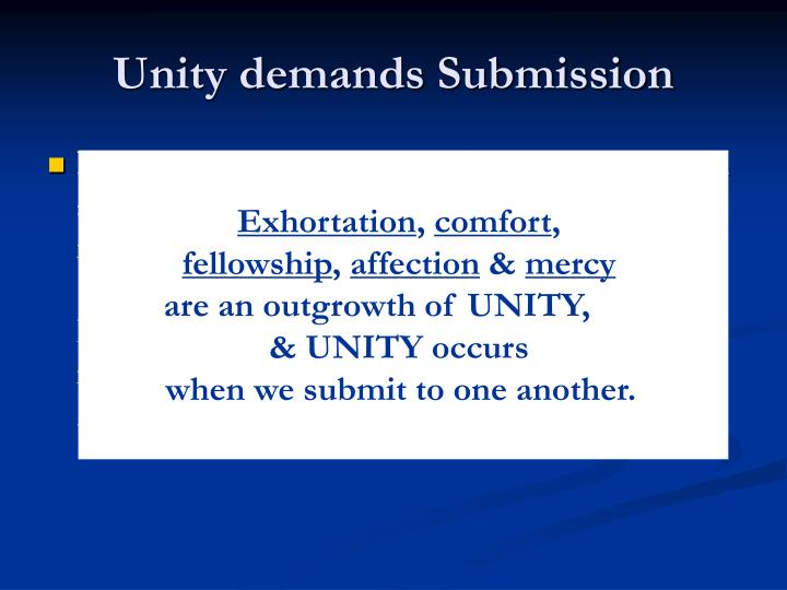 Unity demands submission1