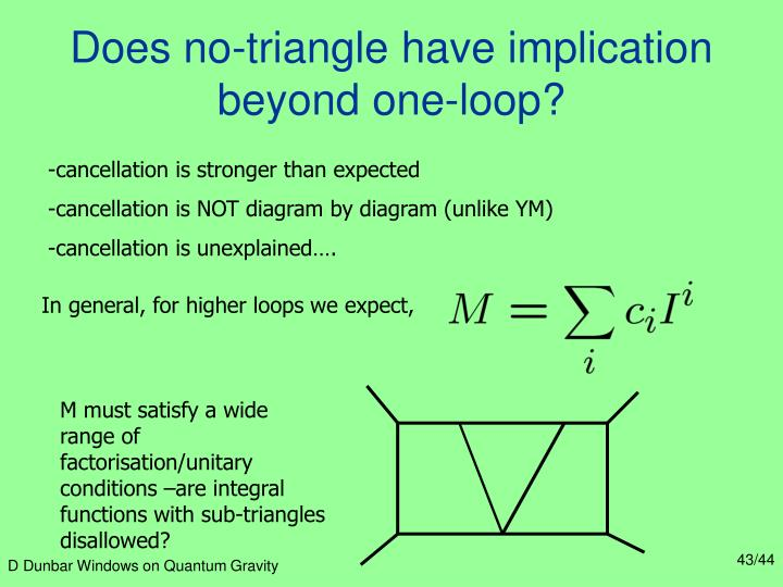 Does no-triangle have implication beyond one-loop?