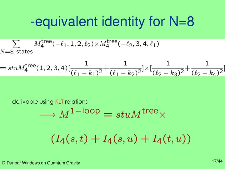 -equivalent identity for N=8
