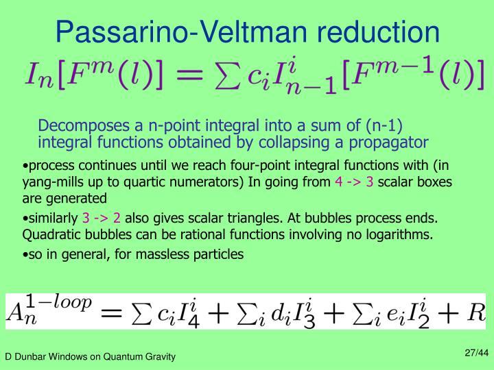 Passarino-Veltman reduction