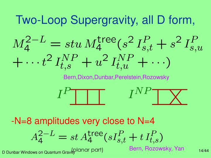Two-Loop Supergravity, all D form,