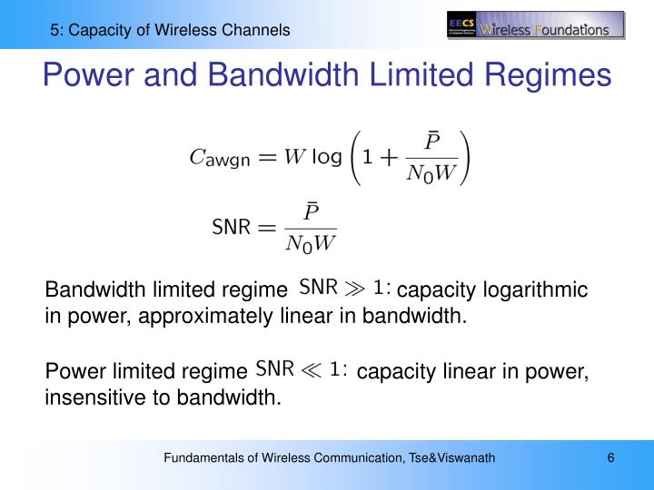 Power and Bandwidth Limited Regimes
