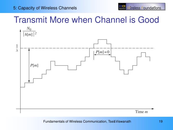 Transmit More when Channel is Good