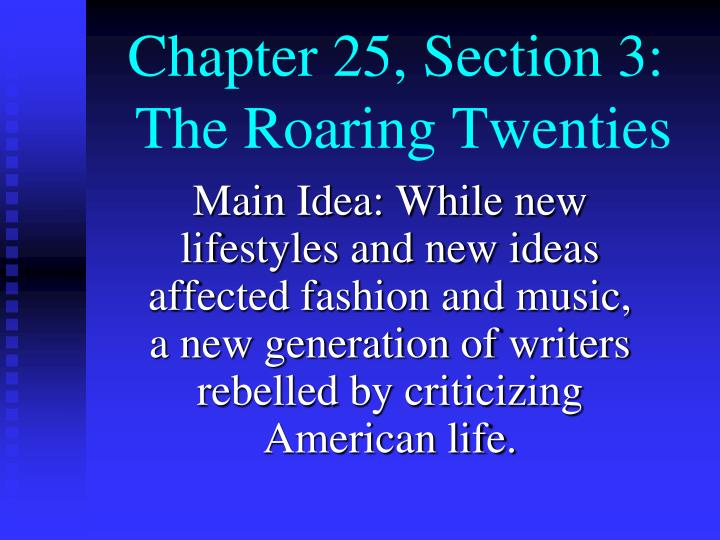 chapter 25 section 3 the roaring twenties