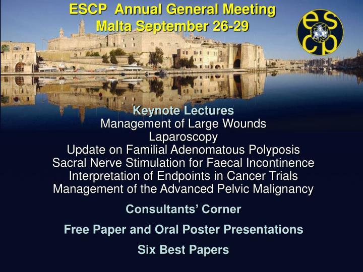 ESCP  Annual General Meeting