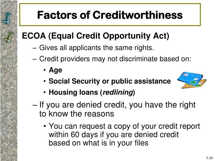 Factors of Creditworthiness