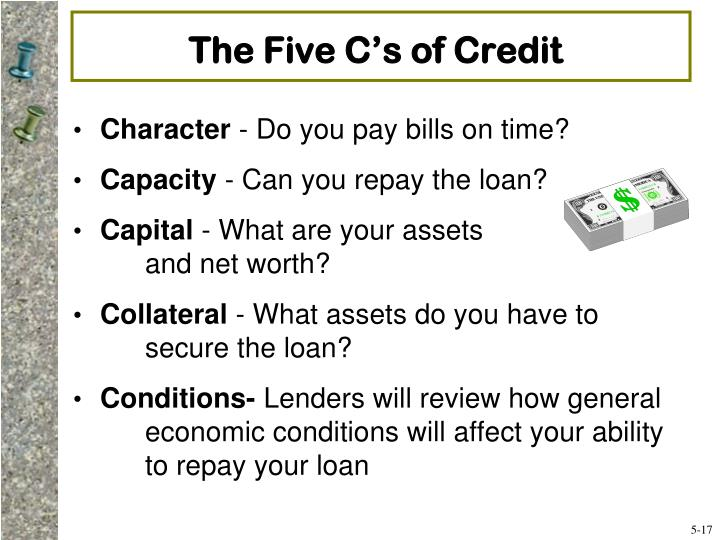 The Five C's of Credit