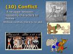 10 conflict