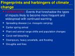 fingerprints and harbingers of climate change1