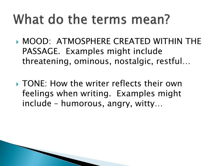 examples of atmosphere in writing