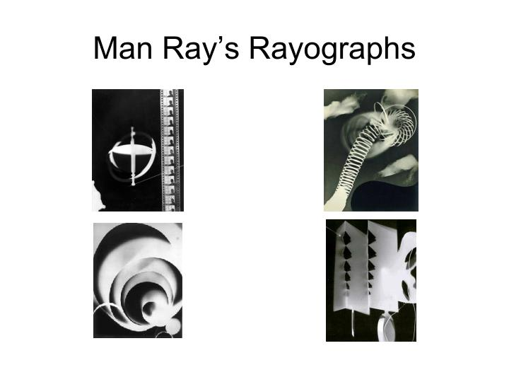 Man Ray's Rayographs