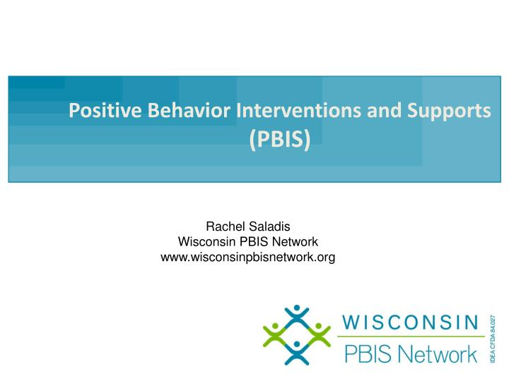 positive behavior interventions and supports pbis n.