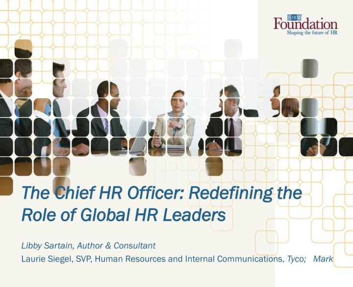 the role of the global leaders