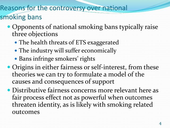 Reasons for the controversy over national smoking bans