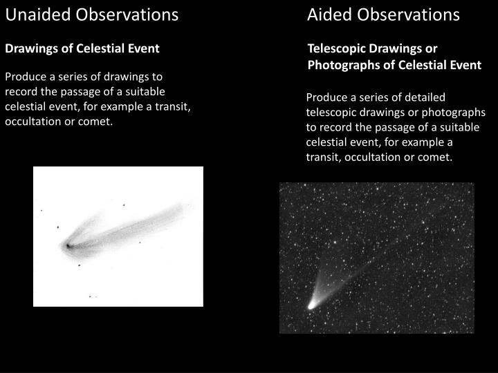 astronomy coursework