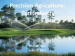 precision agriculture turf industry