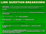 link question breakdown