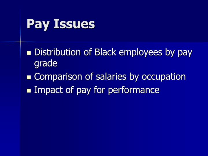 Pay Issues