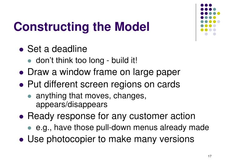 Constructing the Model