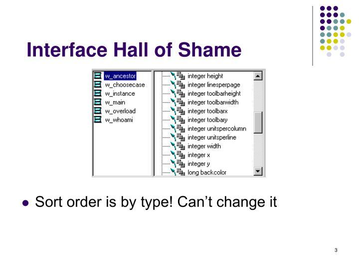 Interface hall of shame