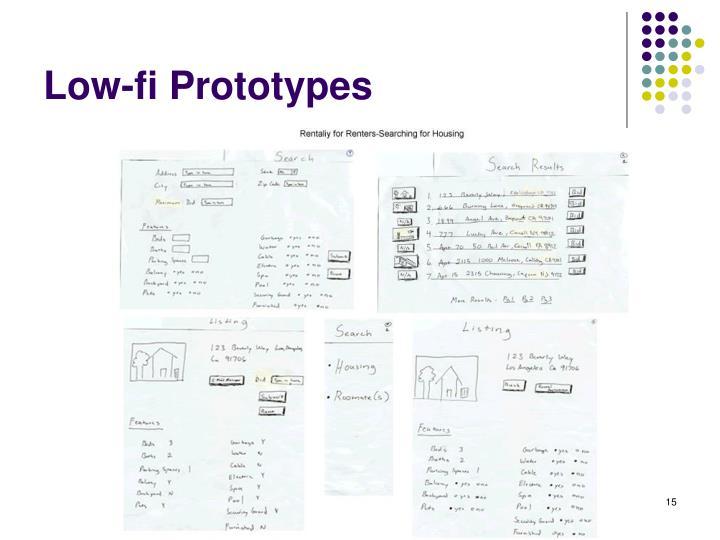 Low-fi Prototypes