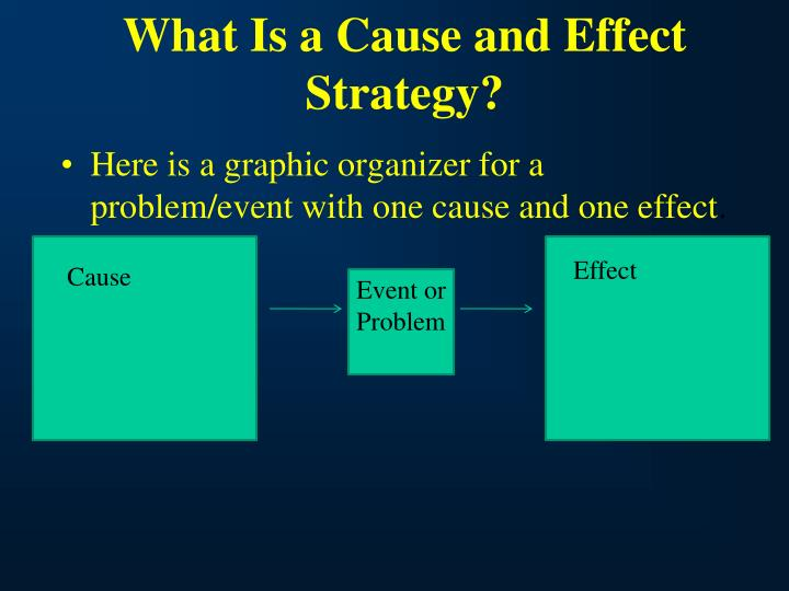 What Is a Cause and Effect Strategy?