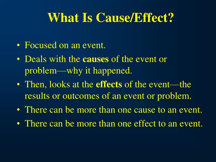 What Is Cause/Effect?