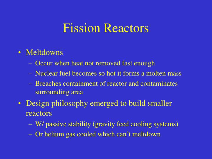 Fission Reactors