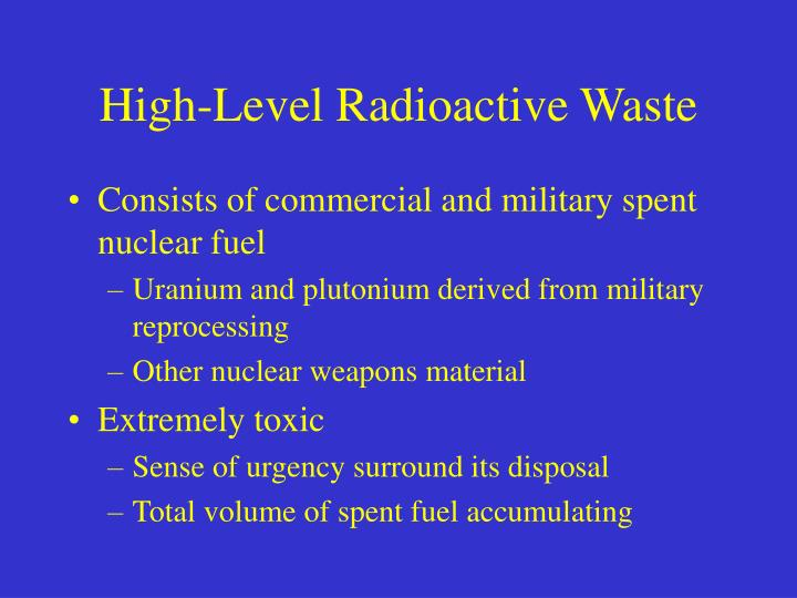 Consists of commercial and military spent nuclear fuel