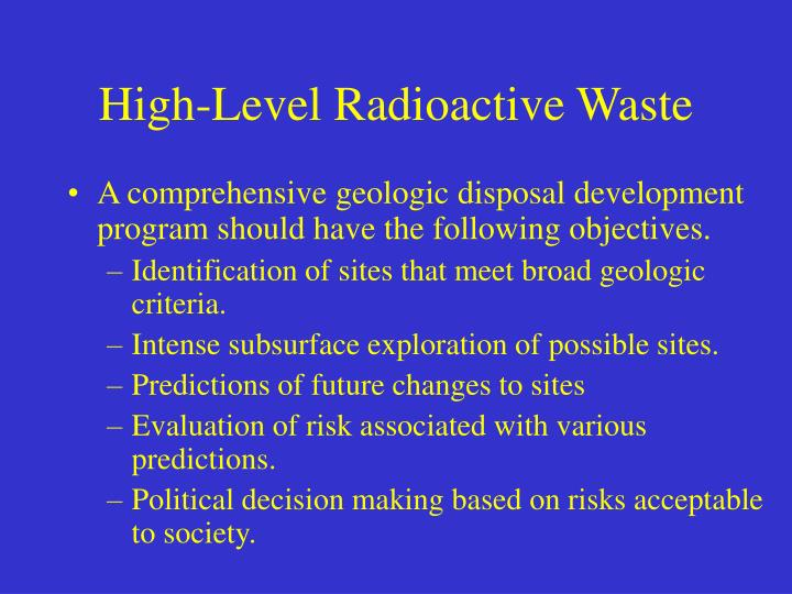 High-Level Radioactive Waste