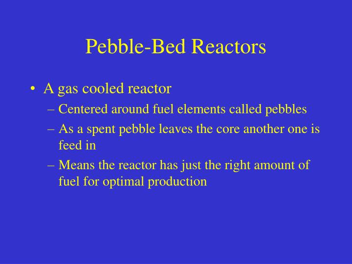 Pebble-Bed Reactors