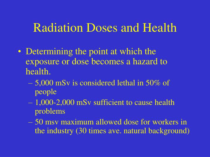Radiation Doses and Health