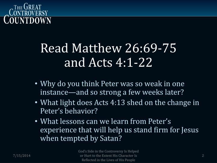 Read Matthew 26:69-75
