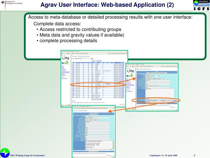 Agrav User Interface: Web-based Application (2)