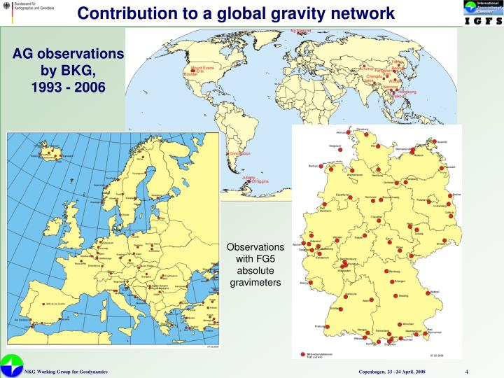 Contribution to a global gravity network
