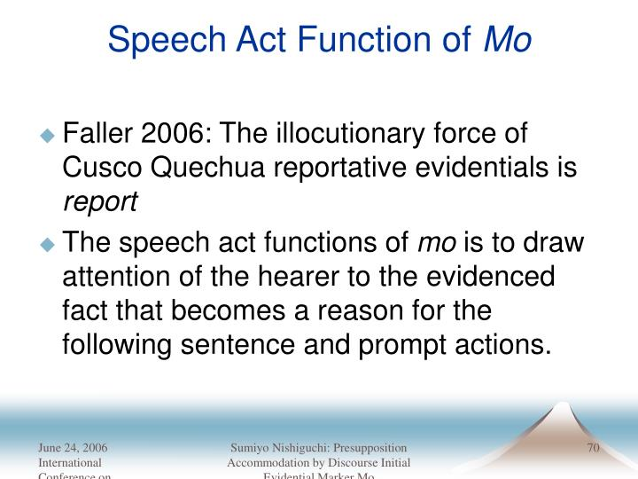 Speech Act Function of