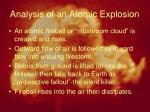 analysis of an atomic explosion1