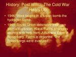 history post wwii the cold war heats up