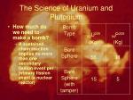the science of uranium and plutonium8