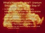 what s happening now uranium smuggling how do we stop it2